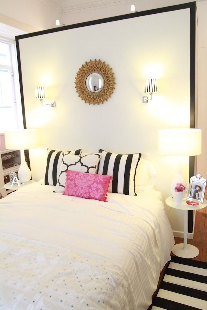 Best Black White Pink Bedroom Gold Sunburst Mirror With Pictures