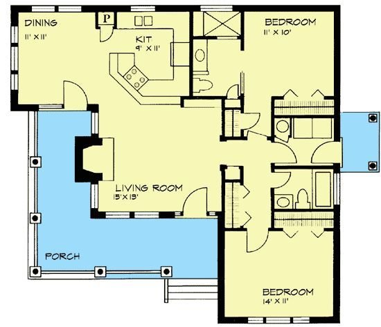 Best The Two In Law Suite And 2 Bedroom House Plans On Pinterest With Pictures