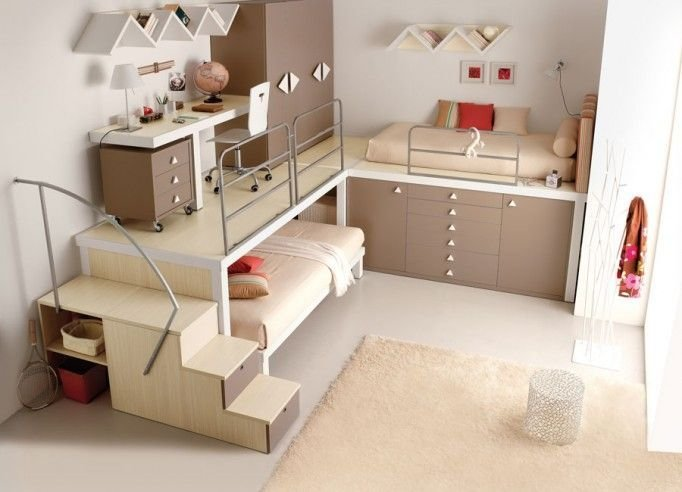 Best Raised Bed And Furniture Platform The Bottom Bed Could Be On Casters Kids Pinterest With Pictures