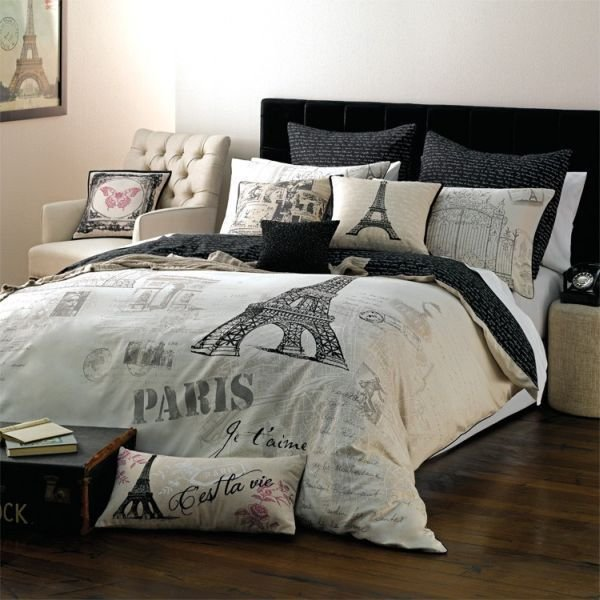 Best Paris Themed Bedding For Adults Trend Alert Chic Parisian Interior Accessories Bedroom With Pictures