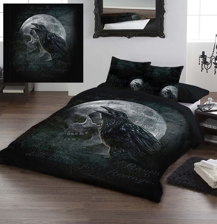 Best Ravens Curse By Alchemy Gothic Kingsize Bed Duvet Set With Pictures