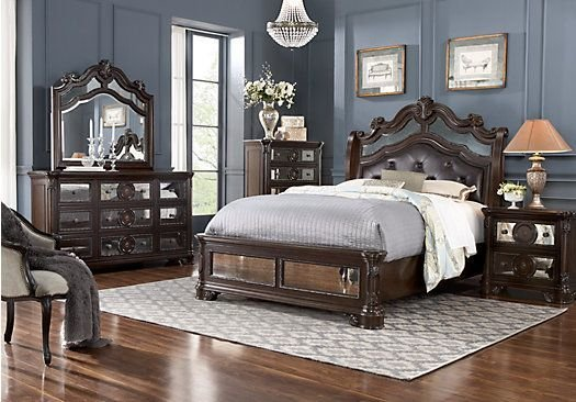 Best Glass Castle 8 Pc King Bedroom Suite Bedroom With Pictures