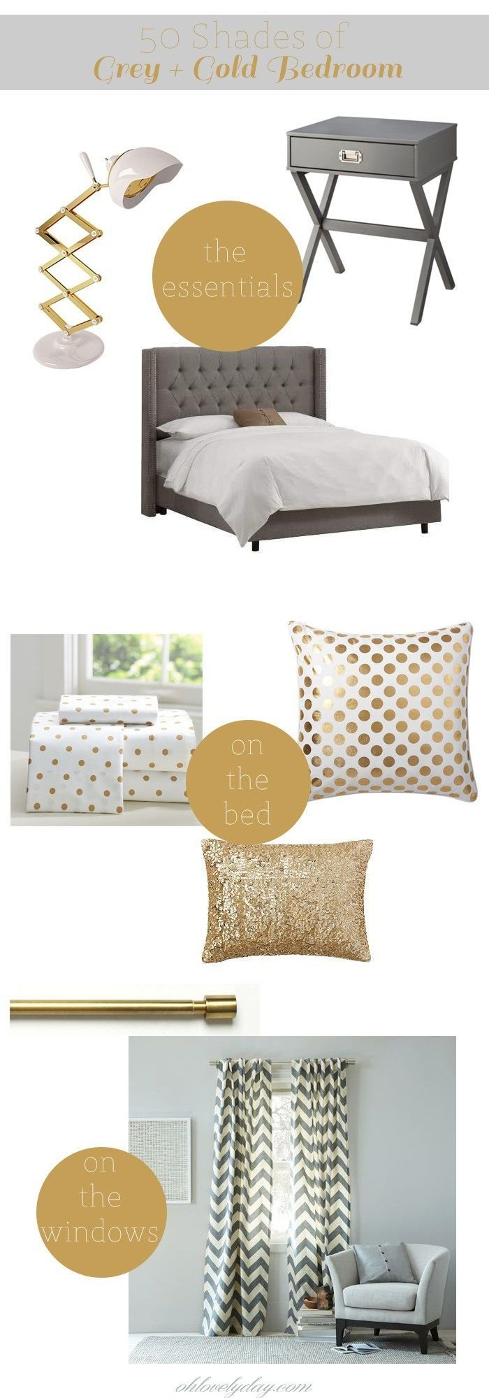 Best 1000 Ideas About Gold Grey Bedroom On Pinterest Grey With Pictures
