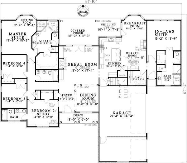 Best Plan W59679Nd Open Living With In Law Suite 2 880 Sq With Pictures