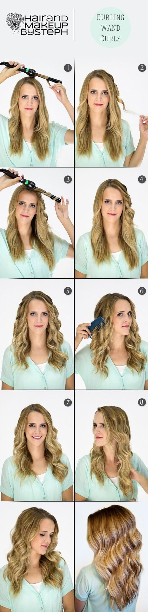 Free 1000 Ideas About Curling Wand Curls On Pinterest Easy Wallpaper