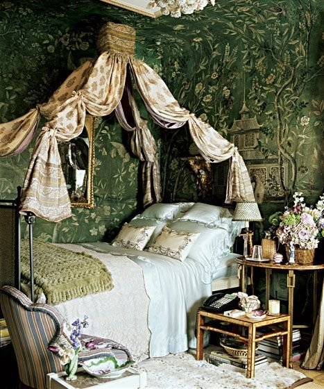Best Room Of The Day Shimmery Green Old World Elegant With Pictures