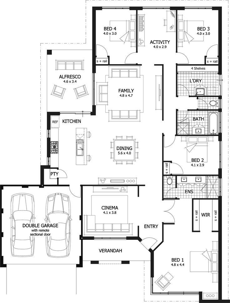 Best 25 Best Ideas About 4 Bedroom House Plans On Pinterest With Pictures