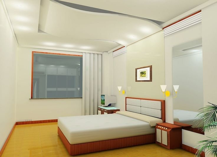 Best Wonderful Ceiling And Wall Designs Modern Bedroom With With Pictures