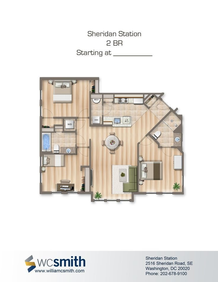 Best Two Bedroom Floor Plan Sheridan Station In Southeast With Pictures