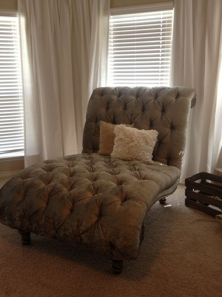 Best Tufted Double Chaise Lounge Chair In Our Master Bedroom Different Color To Add That Pop Maybe With Pictures