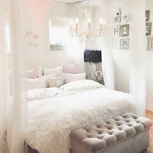 Best White Pink Sparkly Girly Bedroom Home Office With Pictures