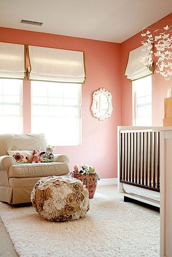 Best Modern Baby Room Ideas For Girls For Mom To Be Peach Wall With Pictures