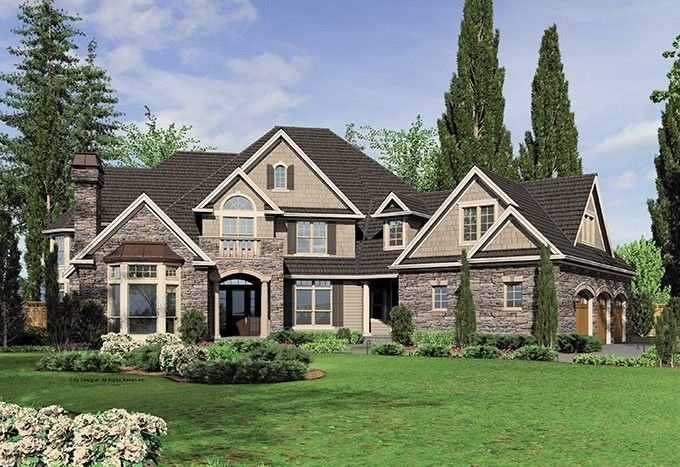 Best New American House Plan With 6020 Square Feet And 5 With Pictures