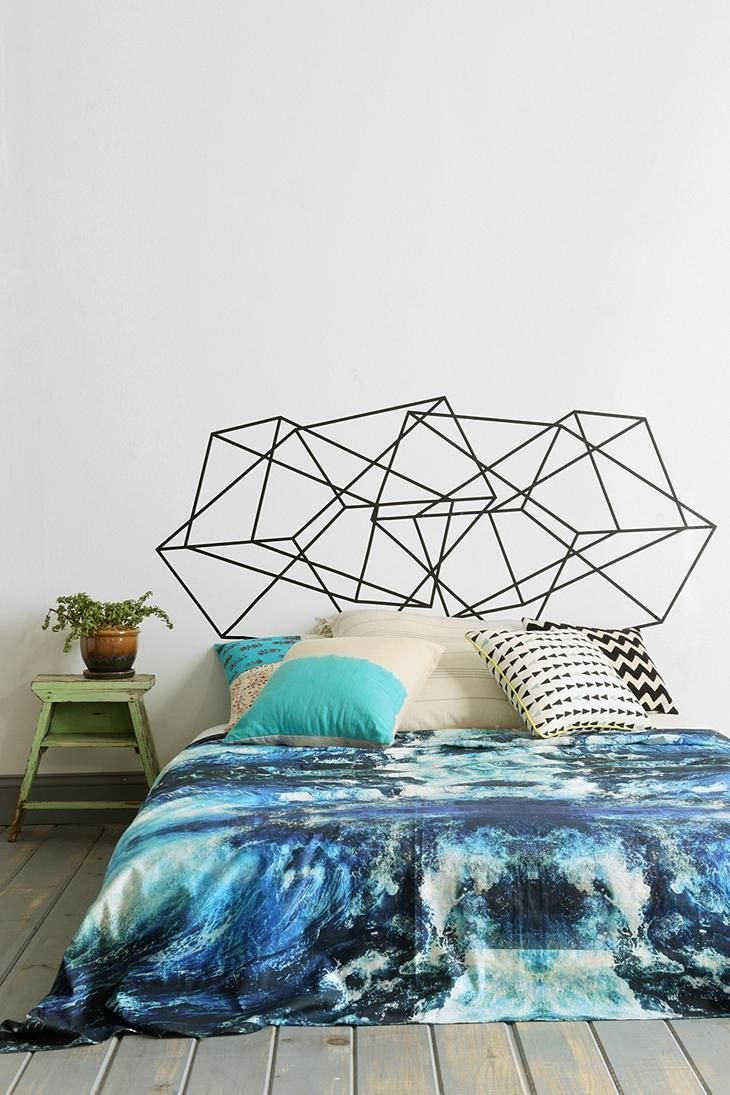 Best Geo Fab Wall Decal That Doubles As A Decorative Headboard With Pictures