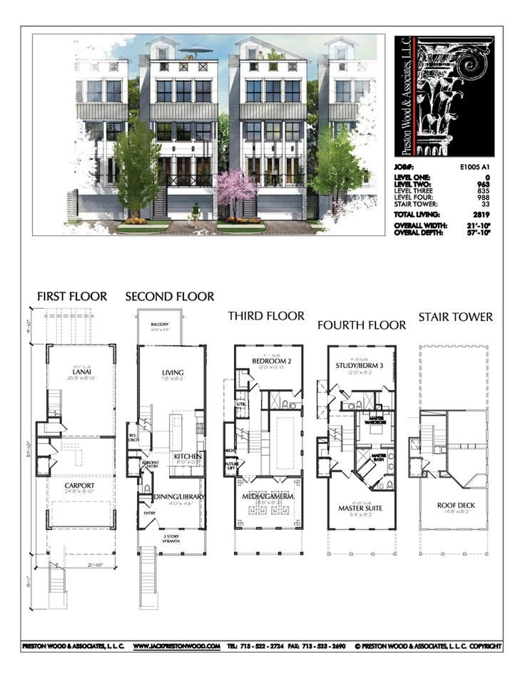 Best Townhouse Plan E1005 A1…… Master Bedroom Keziah Bedroom 3 With Pictures