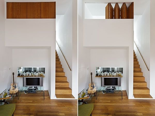Best Small Mezzanine Area Love The Folding Shutters Dream With Pictures