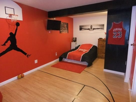 Best Sports Theme Bedroom Michael Jordan Home Decor With Pictures
