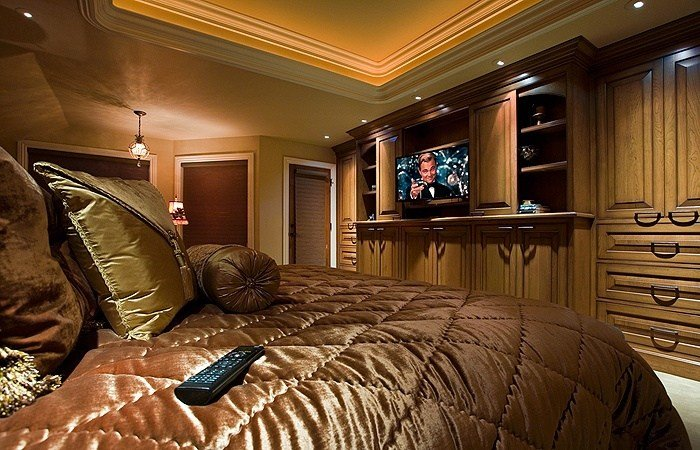 Best Master Bedroom With Built In Entertainment Center In With Pictures