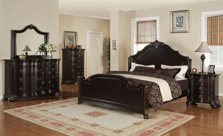 Best Harrison Bedroom Set Espresso Finish Hs600Qb Decor With Pictures
