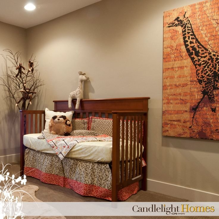 Best Candlelight Homes Nursery Kids Room Giraffe Brown Crib With Pictures