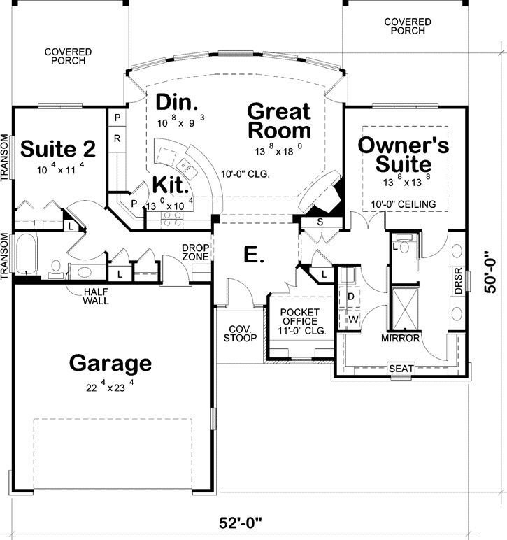 Best Contemporary Style House Plans 1436 Square Foot Home 1 Story 2 Bedroom And 2 Bath 2 Garage With Pictures