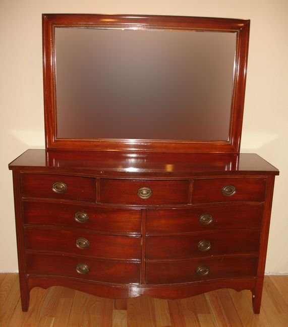 Best Antique Mahogany 3 Piece Matching Bedroom Set By Dixie With Pictures