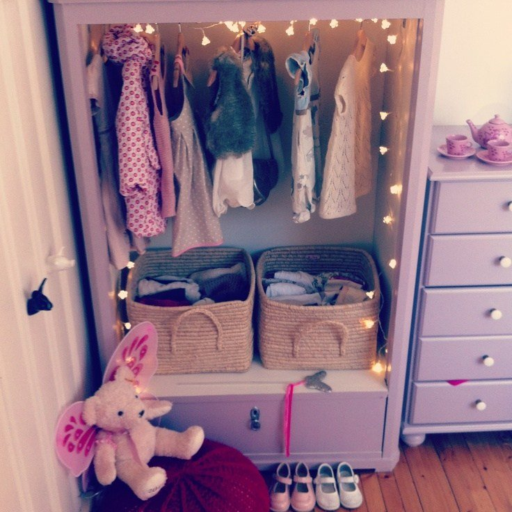 Best Vintage Style Wardrobe For Little Girls Room Upcycled With Pictures