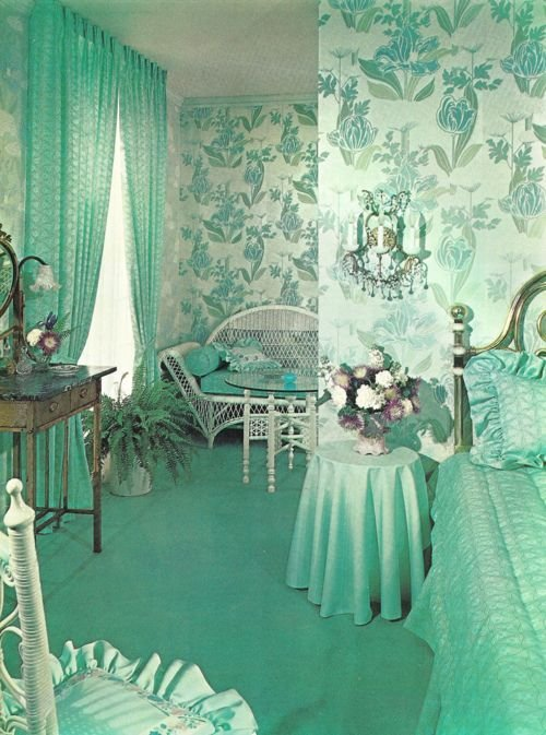 Best Turquoise Bedroom Vintage Retro Interior Interior With Pictures
