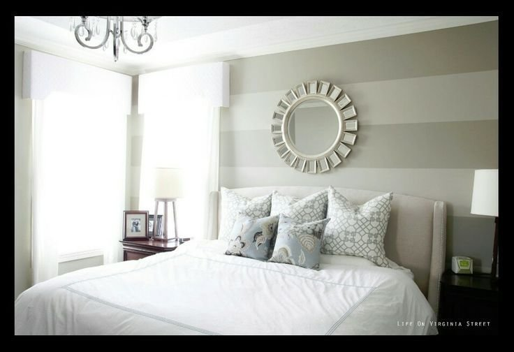 Best Light Gray Striped Wall Master Bedroom Ideas Pinterest Gray Striped Walls Striped Walls With Pictures