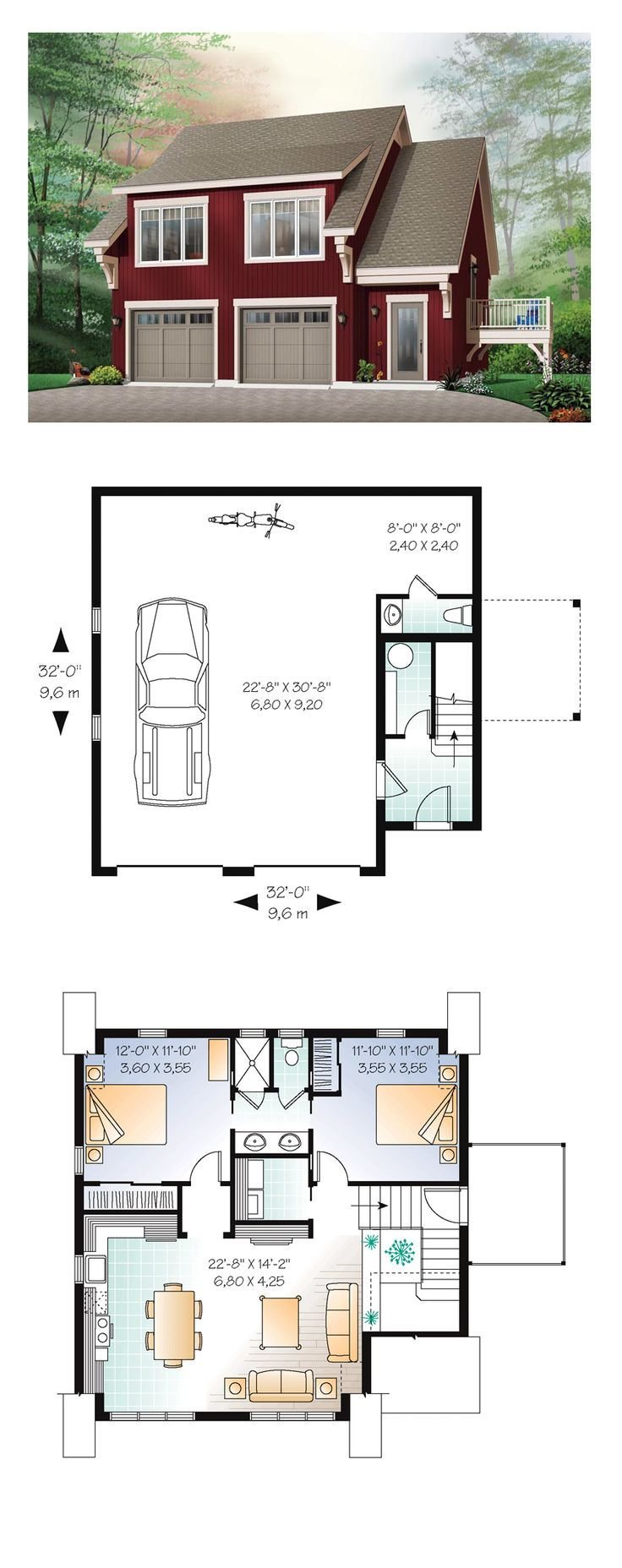 Best 84 Best Images About Apartments Above Garages On Pinterest Kitchenettes One Bedroom And Car With Pictures
