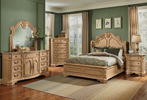 Best Monticello Almond Bedroom Collection Furniture Com With Pictures