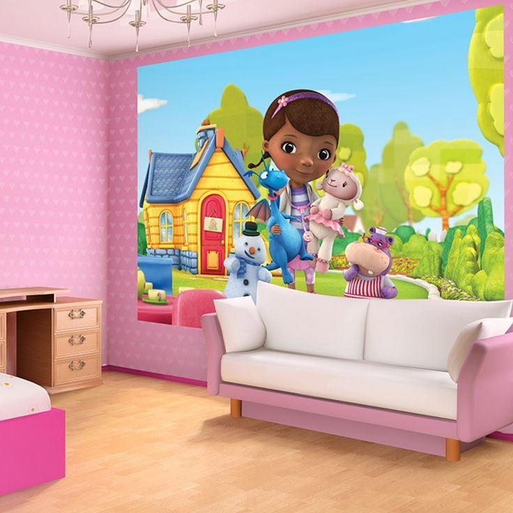 Best Disney Doc Mcstuffins Bedrooms For Girls Disney Doc Mcstuffins Wallpaper Washable With Glue With Pictures
