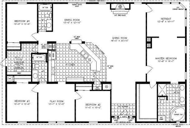 Best 4 Bedroom Modular Homes Floor Plans Bedroom Mobile Home With Pictures