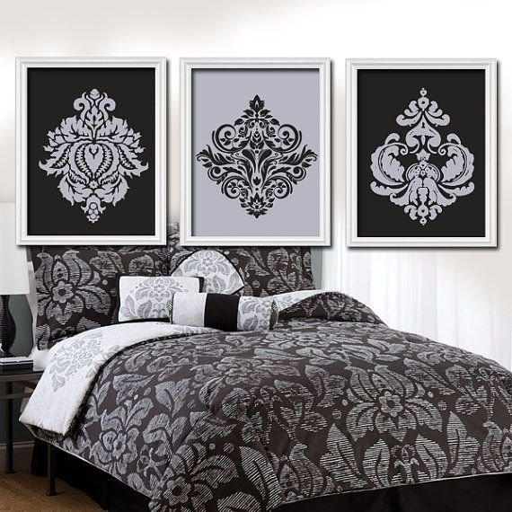Best Gray Black Wall Art Bedroom Pictures Canvas Or Prints With Pictures