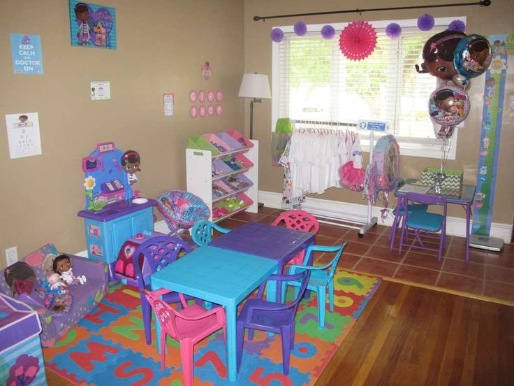 Best Doc Mcstuffins Birthday Party Ideas Table And Chairs Other And Toys With Pictures