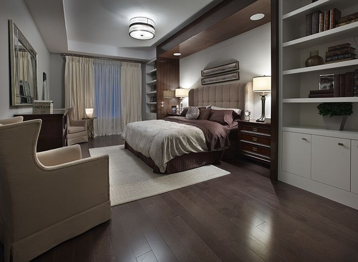 Best The Dark Wood Floors And Millwork Accented By The Neutral Colour Palette Create A Feeling Of With Pictures