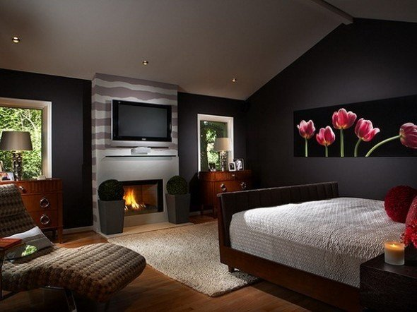 Best Romantic Master Bedroom Ideas With Flowers Wall Mural With Pictures
