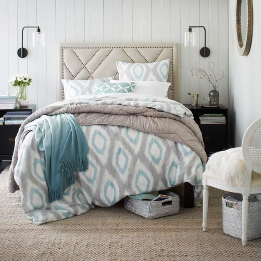 Best Pool Sand Color Combination In A Bedroom From West Elm Color Play Pinterest Guest Rooms With Pictures