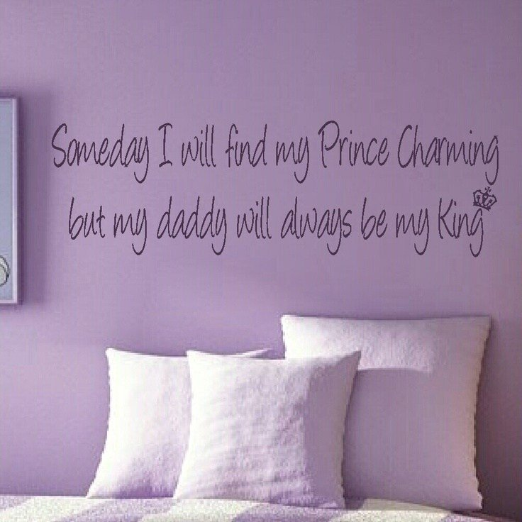 Best Prince Charming Girls Bedroom Quote Wall Stickers Wall With Pictures