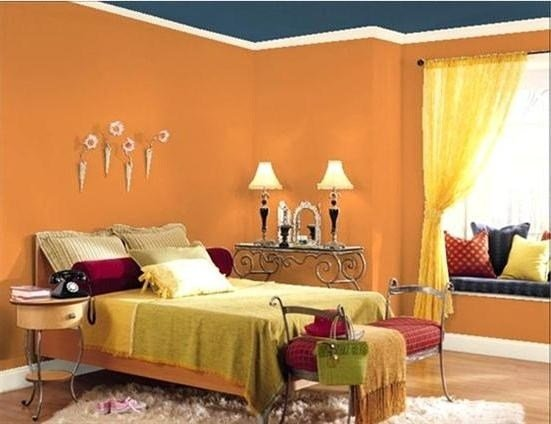 Best 154 Best Orange Blue Rooms Images On Pinterest With Pictures
