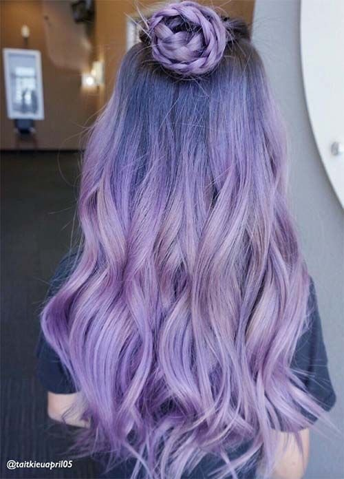 Free 50 Lovely Purple Lavender Hair Colors In Balayage And Wallpaper