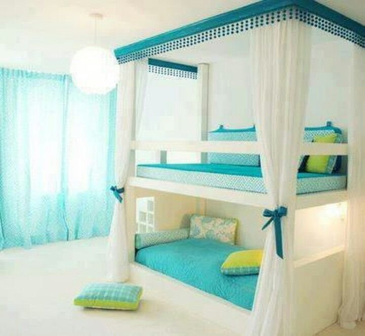 Best Amazing Light Green And Light Blue And White Bunk Bed And With Pictures