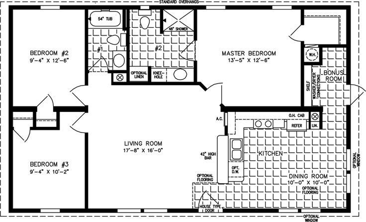 Best Guest House Plans Under 1000 The Tnr 4444B Manufactured Home Floor Plan Jacobsen Homes With Pictures