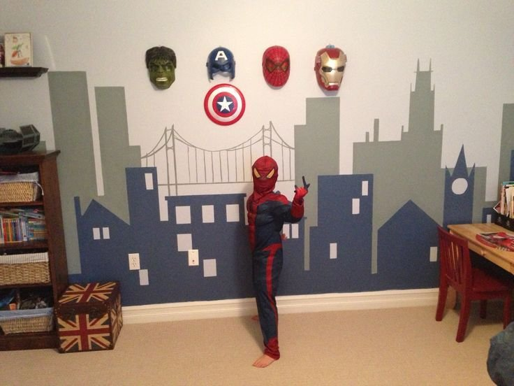 Best I Like The Idea Of Hanging The Masks On The Wall Superhero Bedroom Pinterest My Boys Boys With Pictures