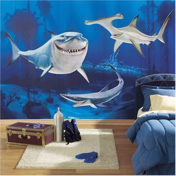 Best Attractive Shark Wall Mural Bedroom Decorating Ideas With Pictures