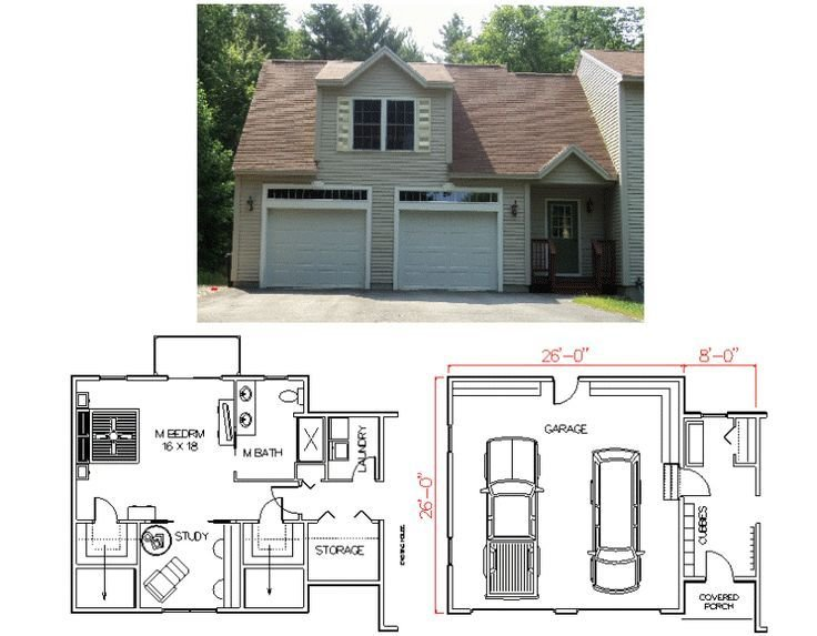 Best Garage With Master Bedroom Plans By House Calls Inc Maine New England Home Plans For The With Pictures