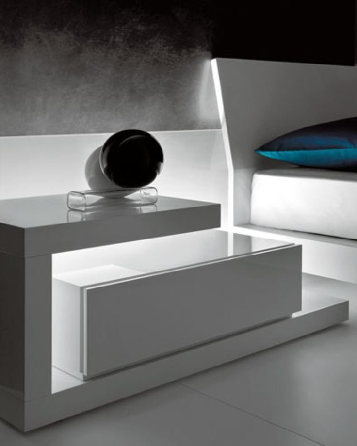 Best Futuristic Nightstand Be Fearless And Choose This Amazing White Nightstand To Create The With Pictures
