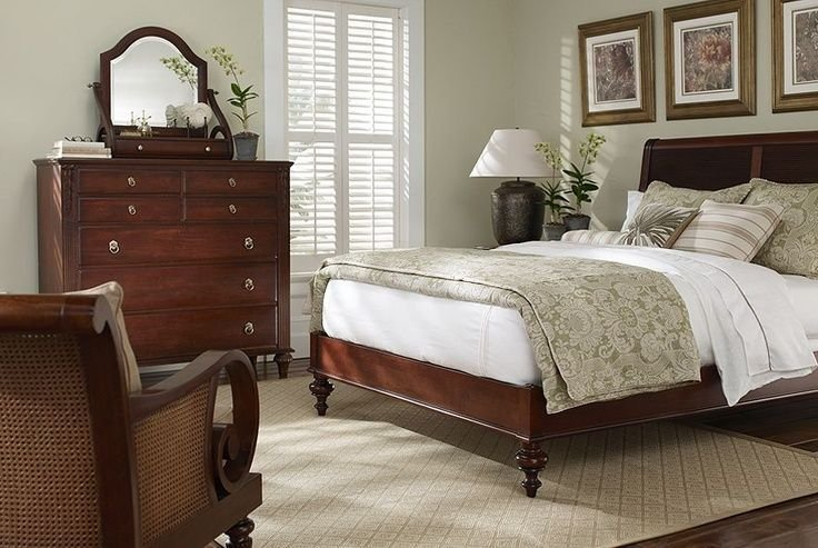 Best Ethan Allen Bedroom Furniture British Classics Island Style Sleigh Bed Monochromatic Ethan With Pictures