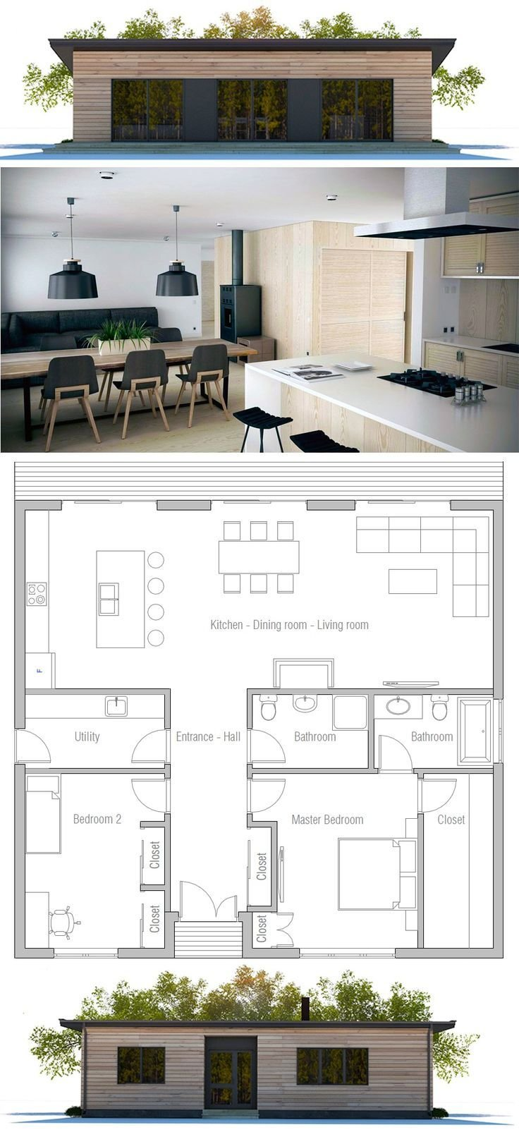 Best 25 2 Bedroom House Plans Ideas That You Will Like On With Pictures