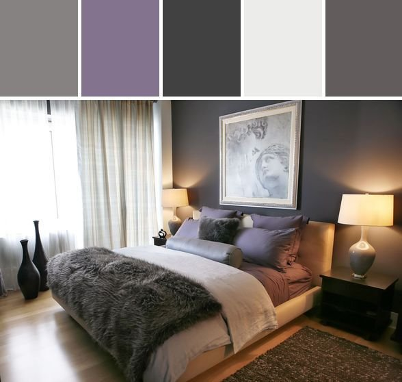 Best Purple And Gray Bedroom Designed By Allmodern Via Stylyze With Pictures